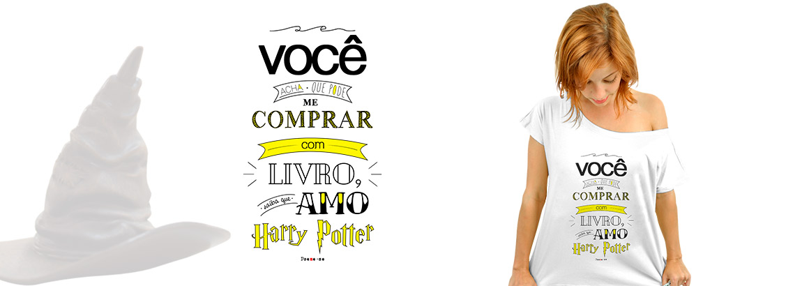 Camiseta literária Amo Harry Potter